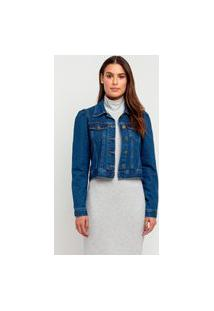 Jaqueta Jeans Elora Blue Feminina Azul