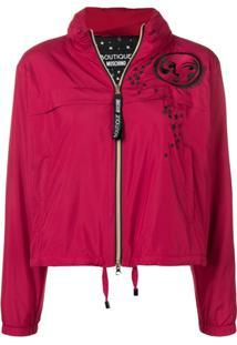 Boutique Moschino Zip-Up Moon Jacket - Vermelho