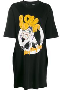 Love Moschino Vestido Com Estampa Gráfica - Preto