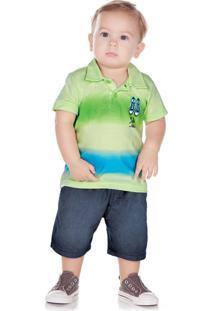 Camiseta Pulla Bulla Meia Malha Verde