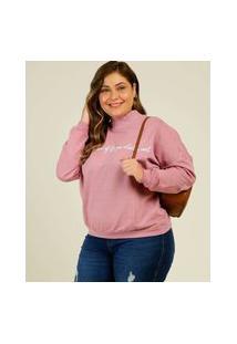 Blusão Plus Size Feminino Moletom Estampa Frontal