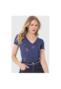 Camiseta Carmim Estônia Azul-Marinho