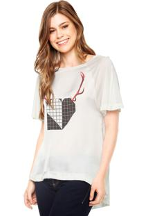 Blusa Manga Curta Eva Heart Wild Off-White