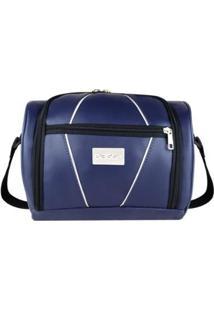 Bolsa Térmica Fitness Gym Couro - Unissex-Azul
