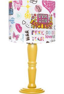 Abajur Carambola Make Love Colorido