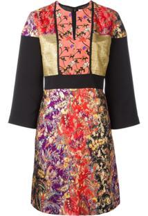 Etro Vestido De Seda Com Estampa Floral - Estampado