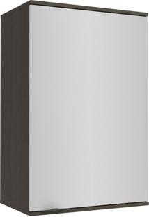 Armário Aéreo Cozinha 60 Cm Nox 1 Porta H782 Onix/Steel - Kappesberg