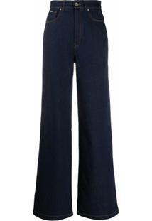 Dolce & Gabbana Calça Jeans Pantalona - Azul