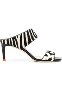 Jimmy Choo Sandália Animal Print Com Salto 80Mm - Preto