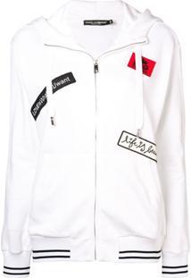 Dolce & Gabbana Blusa De Moletom Com Aplicação De Patch - Branco