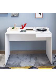 Escrivaninha 1 Gaveta Slim Artany Branco