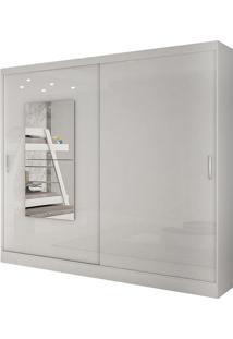 Guarda Roupa Ônix 2 Portas Com Espelho Branco