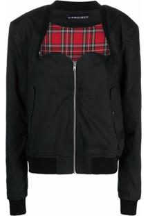 Y/Project Sweetheart Front Bomber Jacket - Preto