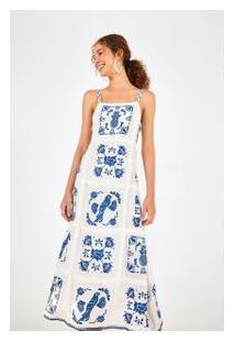 Vestido Bordado Azulejo