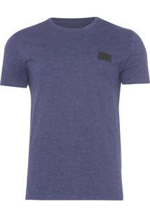 Camiseta Masculina Termocolante Couro - Azul
