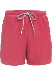 Short Masculino Praia Liso - Vermelho