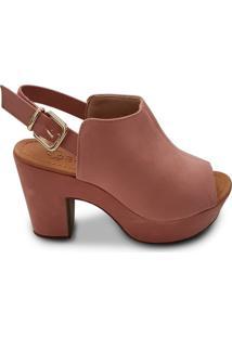 Sandália Feminina Bebecê Open Boot Rosa