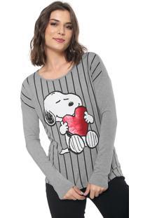 Blusa Cativa Snoopy Snoopy Cinza