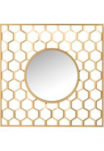 Espelho Redondo Colmeia 99X3X99Cm Udecor