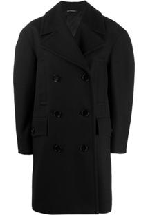 Givenchy Wool Double-Breasted Coat - Preto