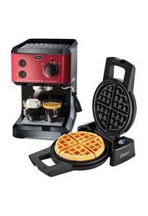 Kit Cafeteira Expresso Cappuccino E Máquina De Waffle Oster - 220V
