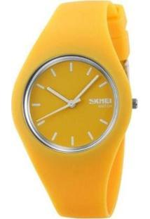 Relógio Skmei Analógico Feminino - Feminino-Amarelo