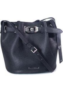 Bolsa Bucket Bag Ellus Feminina - Feminino-Preto
