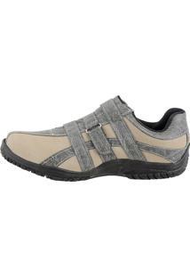 Sapatenis Casual Com Velcro Crshoes Casual Areia