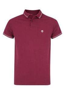Camisa Polo Timberland 4 Stripes Super - Masculina - Vinho