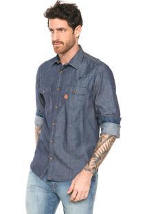 Camisa Jeans Triton Bolsos Azul