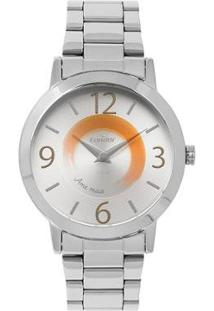 Relógio Condor Disco Feminino - Feminino-Prata