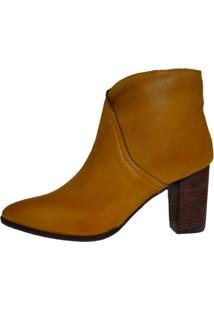 Bota Salto Comitiva Boots Mestiço Açafrão Amarelo