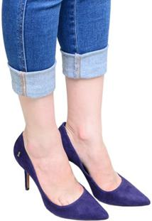 0349501feb ... Sapato Feminino Scarpin Santa Lolla Azul Marinho