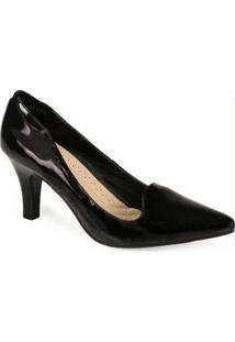 Sapato Scarpin Facinelli Preto Preto