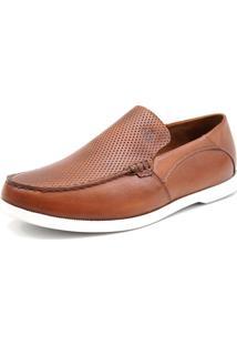 Mocassim Docksider Casual Moderno Magi Shoes Confortável Marrom