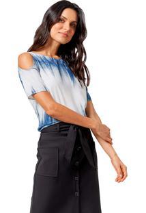Blusa Mx Fashion Tie Dye Dillon Azul