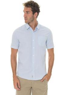 Camisa Timberland Suncook River Small Gingham Slim Masculina - Masculino-Azul Claro