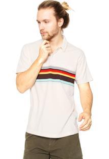 Camisa Polo Osklen Listras Bege
