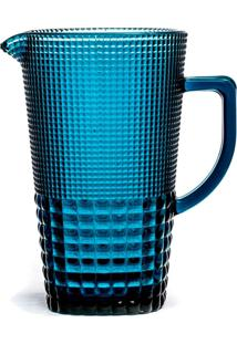 Jarra Quadriculada Azul 1,5 Litros - Incolor - Dafiti