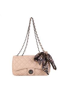 Bolsa Shoestock Classic Matelassê Feminina - Feminino-Bege