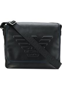 Emporio Armani Messenger Bag Com Logo - Preto