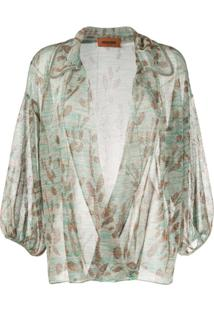 Missoni Fine Knit Open Front Blouse - Dourado