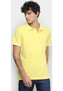 Camisa Polo Derek Ho Tinturada Piquet Básica Masculina - Masculino-Amarelo Escuro