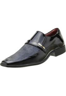 Sapato Goffer Social - Masculino-Preto