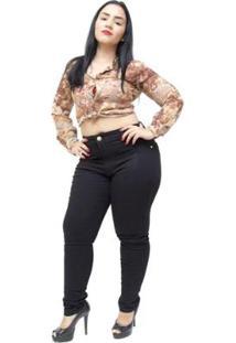 4c482b091 ... Calça Jeans Plus Size Thomix Plus Size Skinny Euridice Feminina -  Feminino-Preto