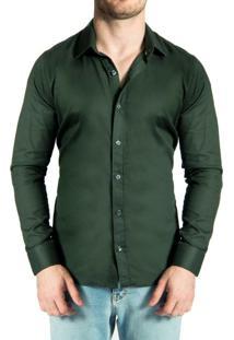 Camisa Sergio K. Maquineta Dark Green Verde