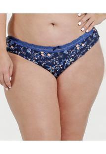 Marisa. Calcinha Estampada Plus Size Azul Tanga Feminina Marisa a670bd2af3d