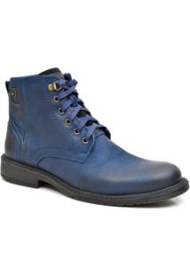 Bota Em Couro Fork - Masculino-Azul