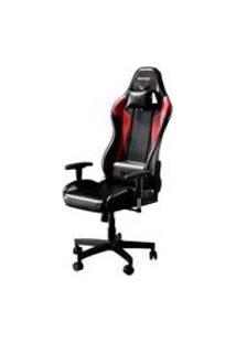 Cadeira Gamer Bunker Preta Com Vermelho Pro E-Sports Ergonomica Reclinavel