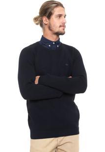 Suéter Lacoste Tricot Logo Azul-Marinho